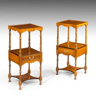 An Elegant Pair of Late 20th Century Night Stands