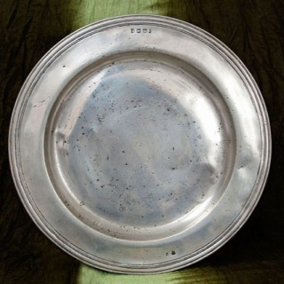 """Pewter 18"""" charger"""