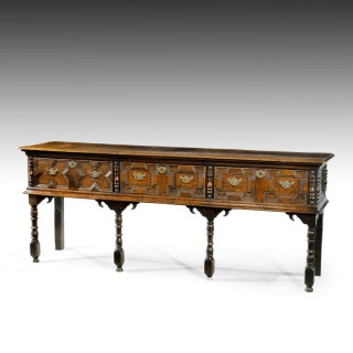 A Quite Exceptional Late 17th Century Oak Dresser Base