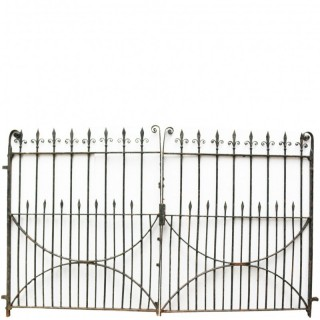 Pair Of Georgian Style Wrought Iron Gates