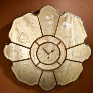 A very interesting and rare art deco mirrored wall clock.
