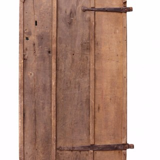 Antique Arched Oak Plank Door
