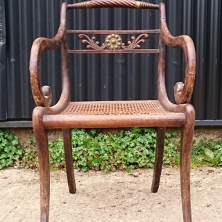 Early 19th Century Regency Simulated Rosewood Armchair