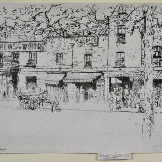 Theodore Roussel - The Street, Chelsea Embankment - etching
