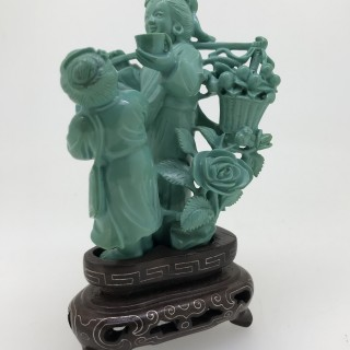 Large Carved Turquoise Group