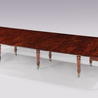 "A fine quality Regency period mahogany ""Imperial"" extending Dining Table, stamped 'Gillows. Lancaster.'"