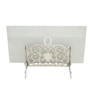 Antique Edwardian Sterling Silver Letter Rack 1904