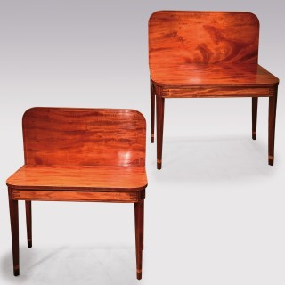 Pair of l ate 18th Century Sheraton period mahogany Tea Tables