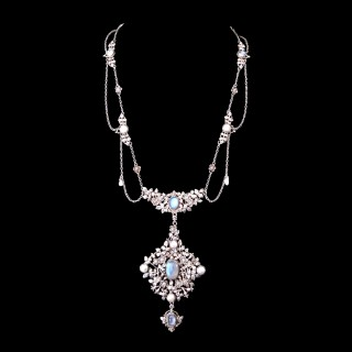 A Kate Eadie silver and moonstone necklace