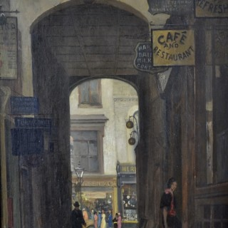 Rex Vicat Cole - Rupert Court, Wardour Street, Soho - oil on panel