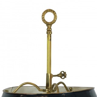 A FRENCH GILT BRASS BOUILLOTTE LAMP