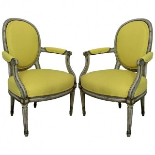 A PAIR OF XVIII CENTURY ARMCHAIRS