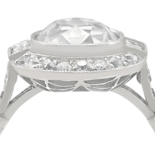 4.23ct Diamond and Platinum Halo Ring - Antique and Contemporary