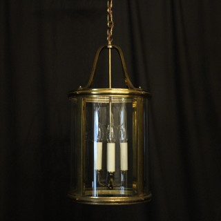 French Gilded Four Light Antique Hall Lantern
