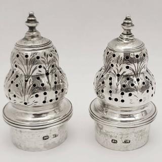 George III Silver Pepper Shakers