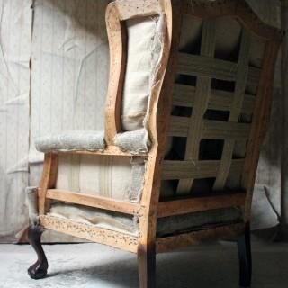 A George III Style Wingback Armchair c.1910