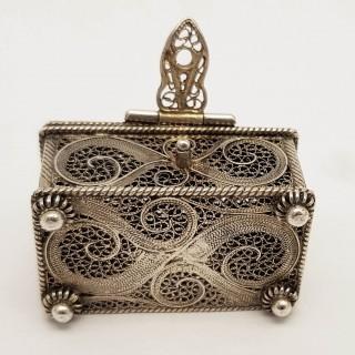 Antique Silver Miniature Casket