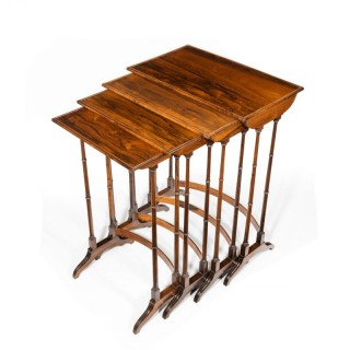 An attractive nest of Regency rosewood quartetto tables