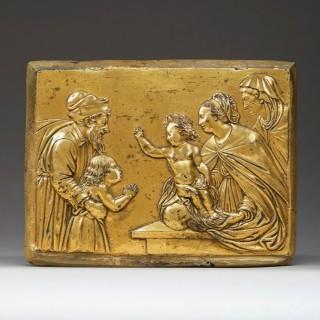 An Exceptional Gilt-Bronze  Renaissance Plaquette, c.1600