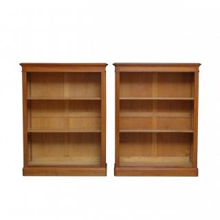 Pair Of Oak Open Bookcases