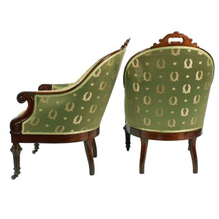 Pair of George IV Library Arm Chairs