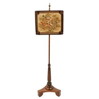 Regency Rosewood Pole Screen