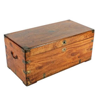 Victorian Brass Bound Camphor Trunk