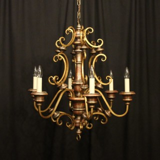 Florentine 6 Light Polychrome Chandelier