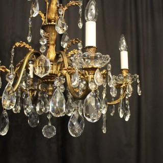 Italian Gilded Bronze 6 Light Antique Chandelier