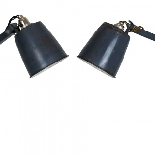 A PAIR OF 50'S ANGLE POISE LAMPS