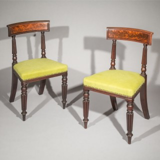 Eight Regency Dining Chairs in the manner of George Bullock