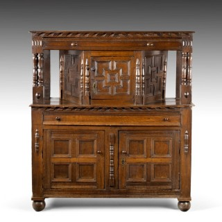 A Good Late 17th Century Oak Court Cupboard