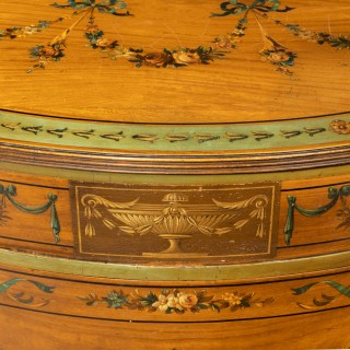 A Good pair of Early 20th Century Sheraton Revival Satinwood Commodes