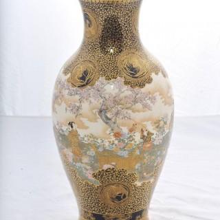 Large 'Kinkozan' Satsuma Vase