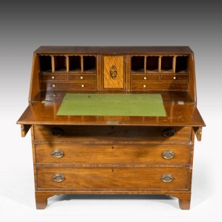 A Good Large George III Period Mahogany Bureau.