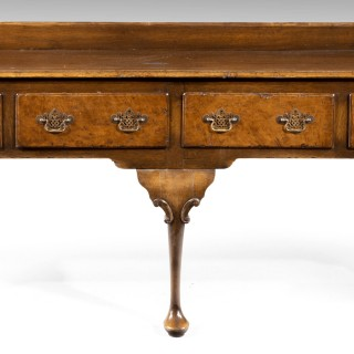 A Beautifully Figured Late 19th Century Queen Anne Style Oak Dresser and Rack