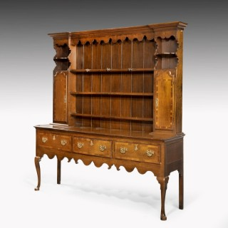 A Good Mid-18th Century Oak Dresser and Rack