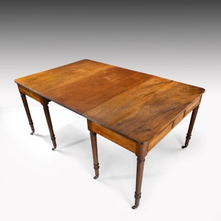 An Attractive George III Mahogany Dining Table / Pair of Pier Tables