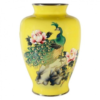 Japanese Meiji Period Cloisonné Enamel Vase, Late 19th Century
