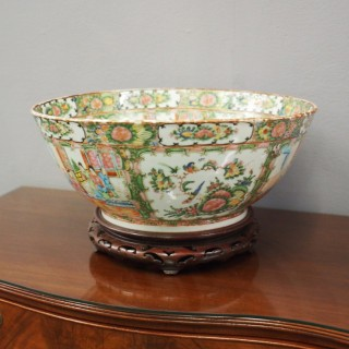 Large Canton Punchbowl