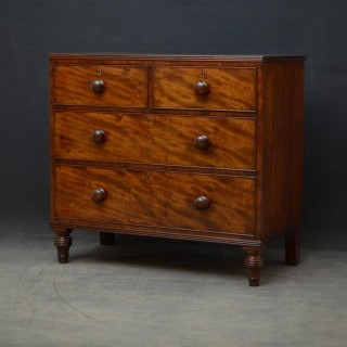 Elegant George IV Mahogany Chest of Drawers