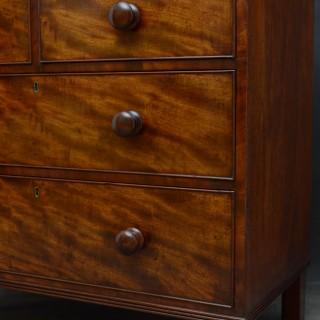 Elegant George IV Mahogany Chest of Drawers