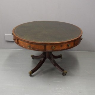 Regency Mahogany Drum Table or Library Table