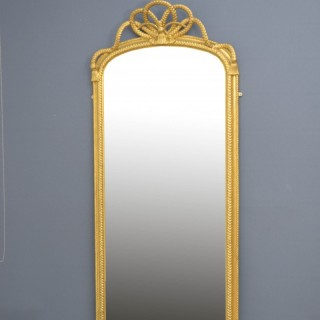 19th Century Full Length Giltwood Mirror H75″