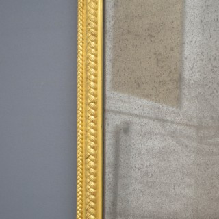 19th Century Full Length Giltwood Mirror H75″