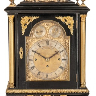 19th Century Three Train, Musical Bracket Clock., S.Smith+ Son, Strand, London