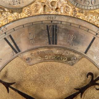 19th Century Three Train, Musical Bracket Clock., S.Smith+ Son, Strand, London