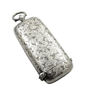 Antique Sterling Silver Sovereign / Vesta Case 1913