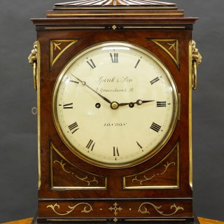 Regency Mahogany English Fusee Bracket Clock by Spink & Son, London