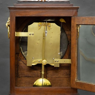Regency Mahogany English Fusee Bracket Clock by Spink & Son, London